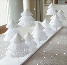 paper doily trees