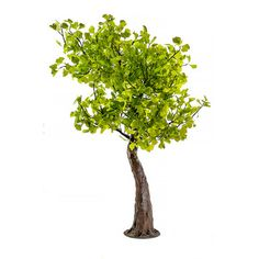 """ArcliteInc Maple Tree 84"""" Table Lamp Leaf Color: Yellow/Multi, LED Color: Cool White"""