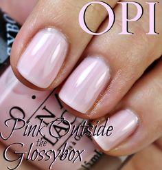 opi pink outside the glossybox - Google Search