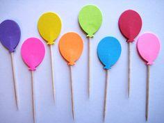 balloon cupcake toppers. Martha Stewart hole punch, Michael's.