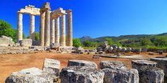 Μια μαγική αρχαία πόλη ιδανική για μονοήμερη εκδρομή Marina Bay Sands, Mount Rushmore, Greece, Thats Not My, Mountains, Nature, Travel, Oil, Projects