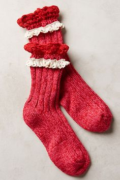 Marble & Lace Crew Socks #anthrofave