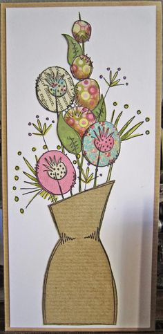 Paper Artsy paper pierced card