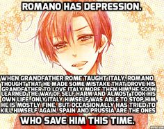 Headcanon I made about Romano. I just really like depressed headcanons. Sometimes they make me feel like I have someone to understand.