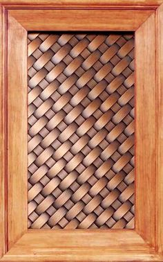 These woven copper cabinet door insets are gorgeous, but they're handmade so I'll be they're pretty pricey.