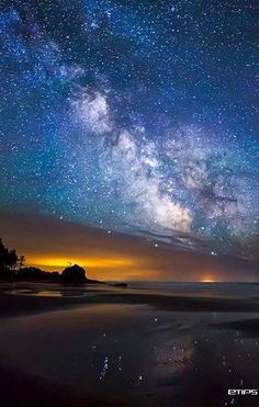 Milky Way Over Second Beach, Washington USA
