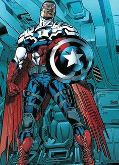 Captain America (Sam Wilson) by Joe Bennett