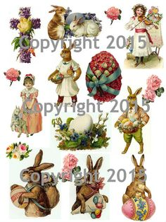 Hey, I found this really awesome Etsy listing at https://www.etsy.com/listing/226933688/printable-victorian-easter-collage-sheet
