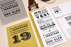 Vintage Newsprint Inspired Wedding Invitations | Smitten On Paper