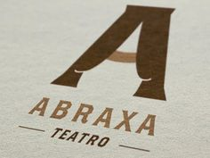 I love how the A is made into curtains. It aligns with the function of theatre but has a timeless appeal.