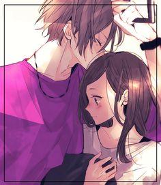ANIME ART Anime Couple Romantic Love Sweet