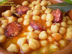 Mi cocina: POTAJE DE GARBANZOS CON CHORIZO