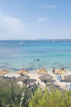 MALLORCA ES TRENC Balearic Islands, Holidays 2017, Beautiful Places, Outdoor Blanket, Around The Worlds, Journey, Vacation, Travel, Beaches