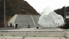 Sou Fujimoto's polyhedral Naoshima Pavilion on the Kagawa shoreline in Japan.