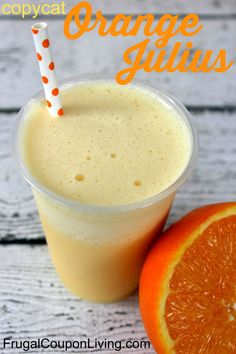 DQ Copycat Orange Julius Recipe.... Freeze for fun popsicles for the kids!.... The   6 ounces Frozen Orange Juice Concentrate, 1 cup Milk, 1 cup Water, 2 tbsp Sugar, 1 1/2 tsp Vanilla, 1/2 cup crushed Ice.....  Combine all ingredients in blender and blend until smooth.