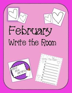 A great literacy independent station for February! Students use clipboards and find words around the room that start with the letters in FEBRUARY.
