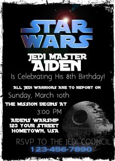 Star Wars Birthday Party Invitation Printable By FoundItCards 1200