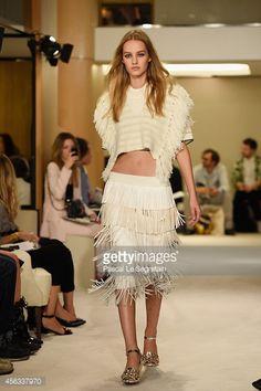 Sonia Rykiel, Paris Fashion Week, Moda Paris, Spring Summer 2015, Lace Skirt, Runway, Skirts, Trends, Model