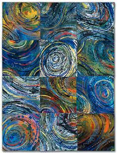 Sue Benner: Artist - Nest Gallery  - dye and paint on silk, fused, mono-printed, machine quilted