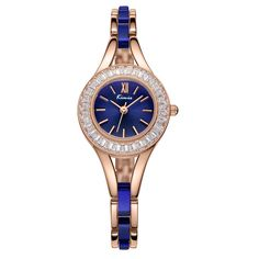 Fashion Rhinestone Multicolor Band Bracelet Watch For Women *** Read more reviews of the product by visiting the link on the image.