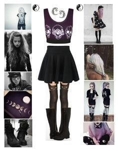 """""""Pastel Goth"""" by allie-in-wonderland ❤ liked on Polyvore featuring moda, Pretty Polly, Frye, WearAll, Tressa, pastelgoth e Kneehighboots"""