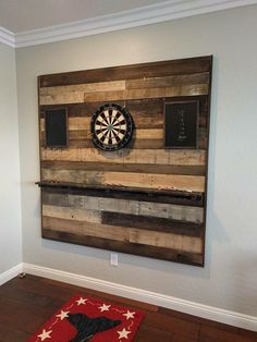 Custom pallet wood dart board