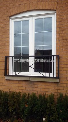 Juliet balcony railings are the best choice for small houses with floor-to- ceiling windows. Call 4588 to get more information from our experts. Glass Juliet Balcony, Juliette Balcony, Gable Window, Window Art, Window Ideas, Loft Conversion Windows, Front Porch Garden, Glass Porch, Balcony Design