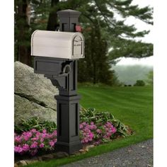 Rockport Single Mailbox Post In Black