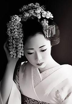 Les coiffures de geisha.  Vêtements et style unique  #coiffures #geisha #style #unique #vetements