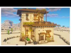 Minecraft Images, Minecraft Plans, Minecraft Tutorial, Minecraft Blueprints, Cool Minecraft, Minecraft Crafts, Minecraft Desert House, Minecraft House Designs, Minecraft Architecture