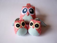 Pigwegeon  the Little Cute Owl Doll with Bag by iammieOWLshop, $10.00