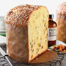 "Overnight Panettone from King Arthur Flour. Delicious.  Each recipe is enough to fill Fantes' 26-ounce paper panettone pans. Use ""real"" fruit, not the fruit cake mix stuff."