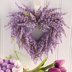 Valentine's Day is just days away, but it's not too late to decorate your door, mantel or wall. Lavender Crafts, Lavender Wreath, Sheet Music Flowers, Heart Wreath, Wreath Forms, Summer Wreath, Spring Wreaths, Valentine Wreath, Holiday Wreaths