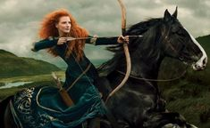 Jessica Chastain is Merida shot by Annie Leibovitz - Brave a classic Disney movie
