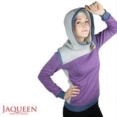 Hoodies - Hoodie aubergine - ein Designerstück von JAQUEEN-handmade-streetwear-berlin bei DaWanda