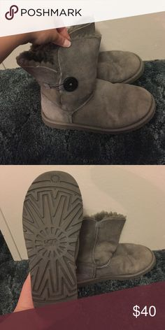 Ugg Gray Ugg Bailys ❤️ These are in pre-loved condition, but still have wear left! UGG Shoes Winter & Rain Boots