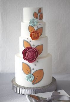 J'Adore Cakes Co. ~ Love the simple, but contemporary decoration of this cake.  ᘡηᘠ