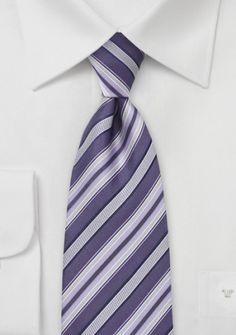 Marken-Krawatte kirschrot Streifendesign