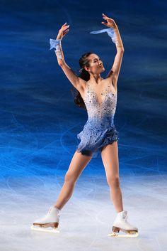 Shizuka Arakawa of Japan performs during the Japan Open 2013 Figure Skating at Saitama Super Arena on October 2013 in Saitama, Japan. Figure Skating Competition Dresses, Figure Skating Outfits, Figure Skating Costumes, Figure Skating Dresses, Shizuka Arakawa, Gym Leotards, Women Figure, Ladies Figure, Light Blue Dresses