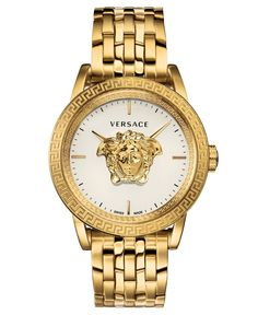 New Versace Palazzo Empire Bracelet Watch, Mens accessories. Fashion is a popular style Rolex Submariner, Stainless Steel Bracelet, Stainless Steel Case, Palazzo, Versace Bracelet, Empire, Versace Men, Versace Dress, Watch Model