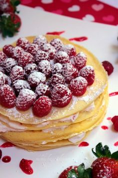Berry Crepe Cake on http://momwhats4dinner.com/berry-crepe-cake/
