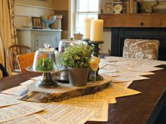 The Painted Home: { Music Sheet Table Runner } So charming.