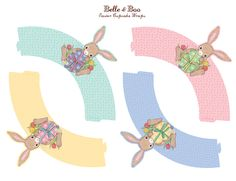 Free Downloadable Easter Cupcake Wrappers. Printable PDF