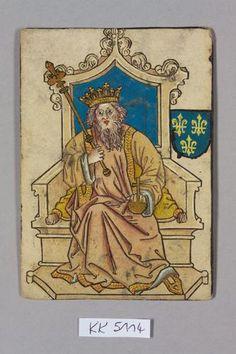 "König (King), France, from ""Hofämterspiel"" for king Ladislaus the Posthumous"