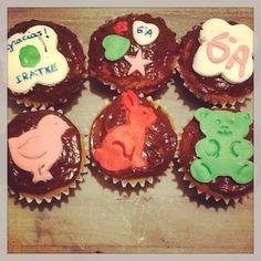 Cupcakes de fin de curso con unos cortadores preciosos de Londres