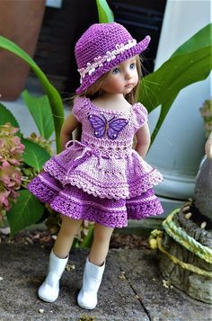 "Dianna Effner 13"" Little Darling Hand Knit 2pc OUTFIT for Summer Wear #DiannaEffner"