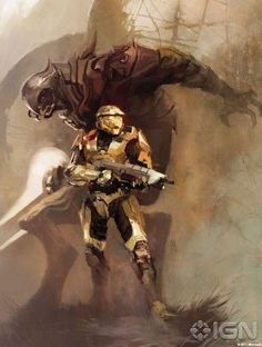 Halo Art Master Chief And Arbiter