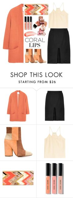 """""""My coral Lips"""" by topmoss ❤ liked on Polyvore featuring Schönheit, MANGO, Tanya Taylor, 10 Crosby Derek Lam, Forte Forte, Rafe, Bobbi Brown Cosmetics, NARS Cosmetics, coral und contestentry"""