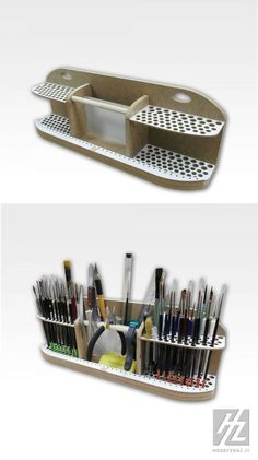 Art style Pinsel und Werkzeughalter Mehr Interior decorating plans for your home bar ought to includ Art Supplies Storage, Art Storage, Craft Room Storage, Tool Storage, Rangement Art, Art Studio Room, Hobby Desk, Craft Shed, Paint Brush Holders