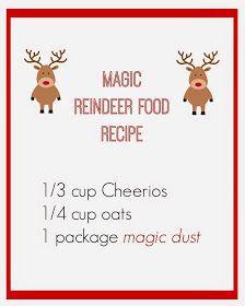 Magic Reindeer Food With Images Magic Reindeer Food Reindeer